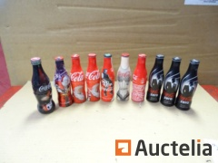 10 bottles full of Coca-Cola collection (David Guetta, Jean-Paul Gauthier,..)