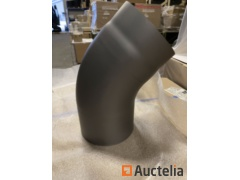 10 Elbows at 45 degrees rounded steel 2mm diameter 150mm Gray