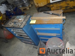 2 Gedore and Volvo mobile Tool trolleys