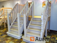 2 Showroom stairs solid oak combined