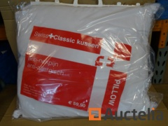 2 SWISS Classic anti-allergic washable pillows 70 x 60