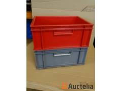 20 Bins Plastic Storage ALLIBERT stackable