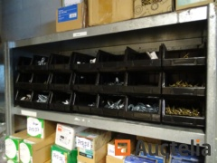 21 bins with various screws and bolts