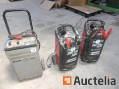 3 Battery chargers on trolley (to be reconditioned)