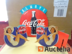 3 Coca-Cola cardstock advertising Posters