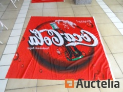 3 flags, 1 tarpaulin for tipper Punch Coca-Cola