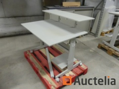 3 Office tables on wheels height adjustable Sis