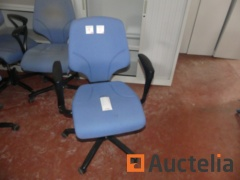 30 Office chairs with castors and armrests Giroflex 64