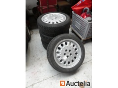 4 Tires with rims Alfa Roméo Dunlop 205/50 Z R16