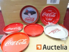 6 Coca-Cola Trays