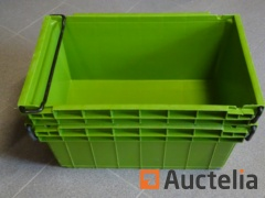 60 Bins CURTEC Plastic embodying and stackable with metal handle