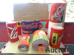 8 Coca-Cola cardstock advertising Rolls