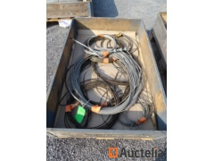8 Steel cables various lengths