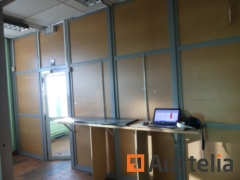 Armored steel glass door + armored partition