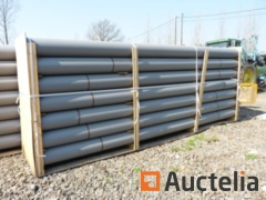 Drainage pipes in PVC 250 mm gray M / M with sleeve - 12 copies