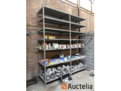 Galvanised shelf, filters