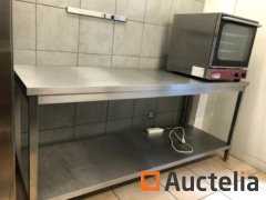 Large stainless steel table 70 x 200 cm