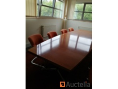 Meeting table and its 8 armchairs