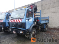 Mercedes 1922 AK Tippertruck with crane HMF 1820 K3 (1993-622277 km)-Matis: 309
