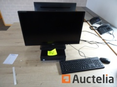 Office table computer, 1 screen flat
