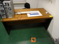 Office table with 2 drawers and office table chair