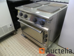 Professional stainless steel 4-burner electric stove and ELECTROLUX ZCF/E oven