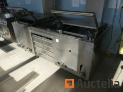 Professional stainless steel gas Fryer 2 vats  CPK GR type 10134 TG