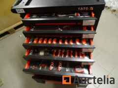 Professional workshop Tool trolley YATO 7 Drawers 211 parts