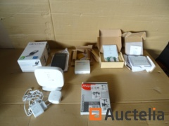 Set switches Design, 1 base Gigaset, 1 remote control, 1 pill holder, 1 calculator
