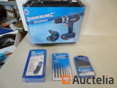 Silverline 18 v. + 3 kits of drill bits drill