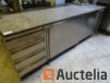 stainless steel storage Table with Arex granite tray