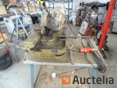 Thomas 250 E cutting saw on wheeled trolley