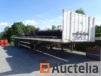 Trailer semi tray, triple pneumatic axle, in working order (+ function transport coils)