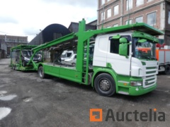 Truck Scania P380 car holder with trailer (2007-881460 km)