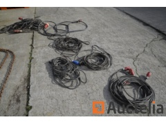 Various electric cables, extensions, three-phase including
