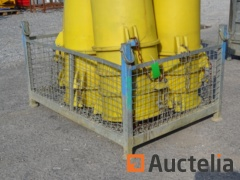 wire mesh basket for crane