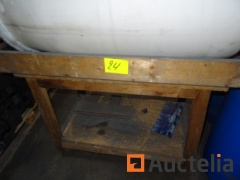 Wooden Workbench with 3 PVC drums