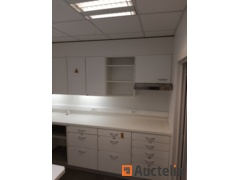 """""""Worktop"""" type cabinet with shelving cabinet and hood"""