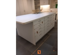"""""""Worktop"""" type cabinet with stainless steel sink and integrated boiler"""