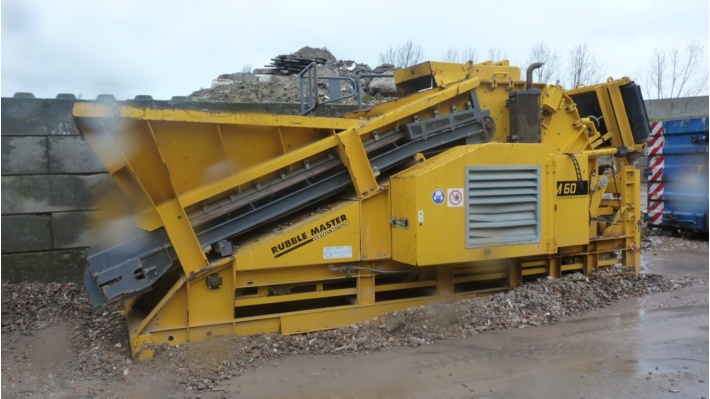 Rubble Master RM60 mobiele Crusher met amp-Roll